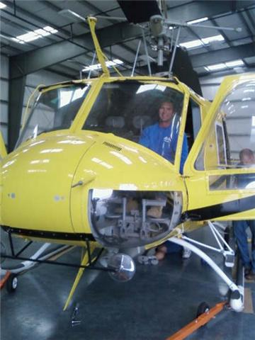 Another picture of the helicopter we lifted.